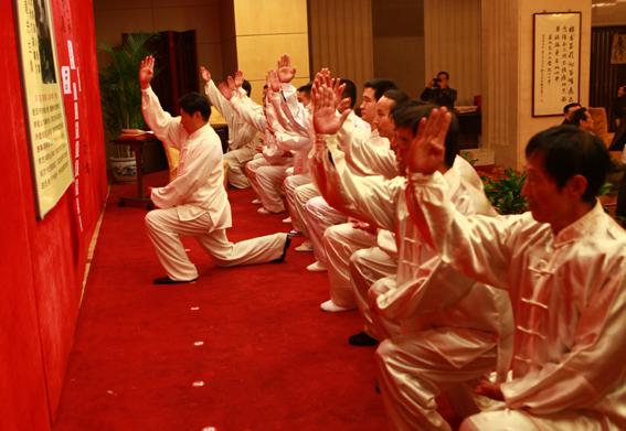 传统武术阴阳八卦掌田克延收徒仪式